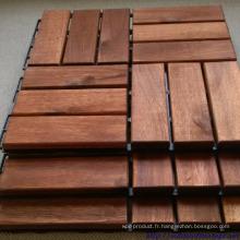 Tuile de sol Ourdoor pour motifs de jardin de luxe avec un beau bois massif solide