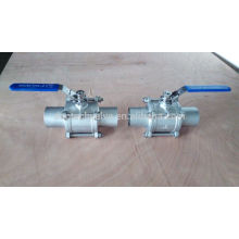 Soudure bout à bout en acier inoxydable ball valve 2 pouces