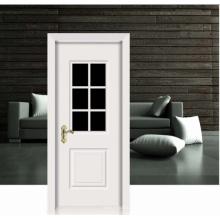 Diseño de flores blanco clásico puerta de madera sólida