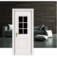 Flower Design White Classic Solid Wooden Door