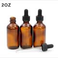 Cosmético de cristal ambarino de la botella 5ml-100ml para el aceite esencial