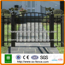 PVC coated & galvanized ornamental fence gate(manufacturer)