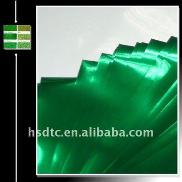 Алюминиевая металлизированная пленка для блеск порошок-зеленый цвет
