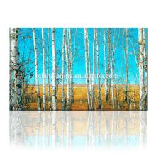 Árbol estirado arte de la lona / impresión de la lona del bosque / arte de la pared de Dropship para el hogar y la decoración del restaurante