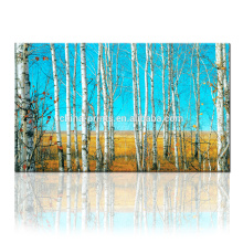 Arte da parede da árvore esticada / impressão da lona da floresta / arte da parede de Dropship para a decoração Home e do restaurante