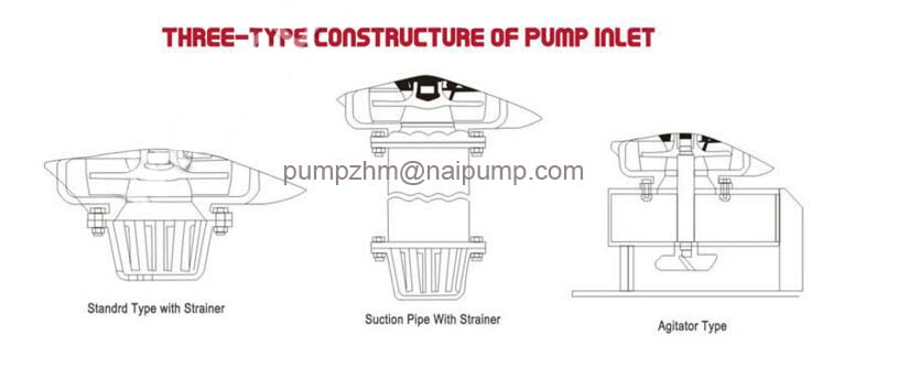 three type pump inlet construction