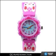 Relógio infantil de borracha de alta qualidade, quartzo personalizado