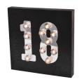Black Age Wooden LED Light for Home Decoration
