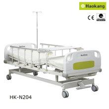 Patentado de diseño manual de doble crank cama hospitalaria (hk-n204)