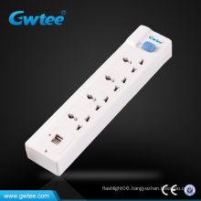 220V usb surge power strip socket