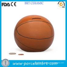 Basketball Shaped Porcelain Money Saving Stash Jar