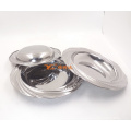 various size round stainless steel deep dinner soup dish plates