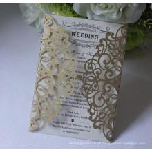 2016 Cartão de convites de casamento preto preto de alta qualidade Impressão grátis Cartão de cartão de casamento branco e preto ML277