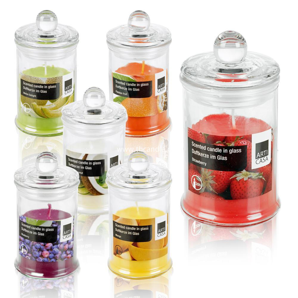 sweet scented candy glass soy candles