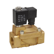 Hot Type Pilot 15 Bar Max Pressure Brass PU225 Series Solenoid Valve 220V