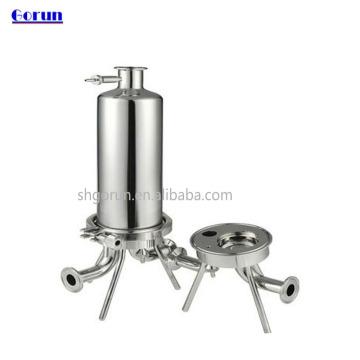 Alojamento de filtro sanitário de aço inoxidável / alojamento líquido de filtro de aço inoxidável do filtro em caixa / alojamento de filtro água de SS