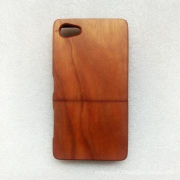 Coque arrière vierge en bois véritable pour Soni XperiaZ5 mini