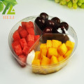 3 Compartments PET Plastic Fruit Salad Container
