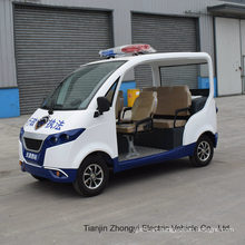 High Quality 4 Person Electric Closed Style Street Laminated Glass Small Police Patrol Car with Ce SGS Certificate