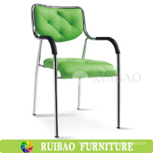 Popular Wholesale Cheap Price PU Leather Metal Chrome Reading Book Chair for Meeting Room