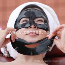 Masque hydrogel noir logo personnalisé pour le nettoyage avec certificat