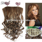 Easy wear fashion style synthetic ponytail top quality half wig hair extension