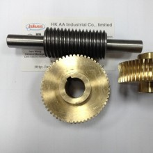 Brass Worm Gear dan Shaft for Machinery Gearbox