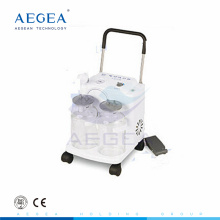 AG-D0031 Verkäufe 2500mm zwei flasche 32 / L min elektrische tragbare sputum aspirator medizinische saugmaschine