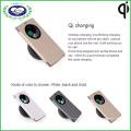 Staubdichte Lederabdeckung Qi Empfänger Drahtloser Aufladeeinheits-Kasten für LG G4