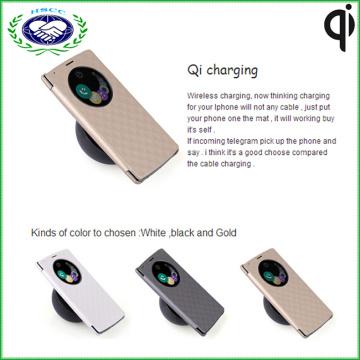 Пыленепроницаемый кожаный чехол Qi Receiver Беспроводное зарядное устройство чехол для LG G4