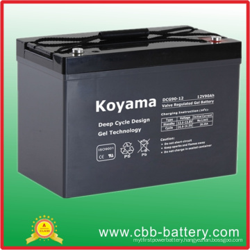 12V 90ah Deep Cycle Gel Battery for Recreational Vehicle / RV