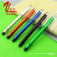 Pluma modificada para requisitos particulares barata multicolora del logotipo de la pluma plástica del Highlighter en venta