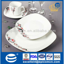 high grade porcelain tableware with classic geometric painting
