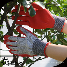SRSAFETY 13g sandy finish cut resistant nitrile gloves/safety gloves