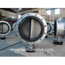 Stainless Steel Rubber Lined Double Flange Butterfly Valve