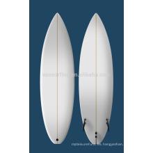 Tabla de surf colorida vendedora caliente de la PU 2015 / tabla de surf de madera de balsa