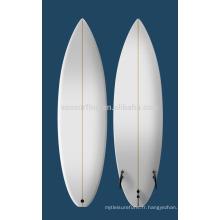 2015 vente chaude colorée PU planche de surf / planche de surf en bois de balsa