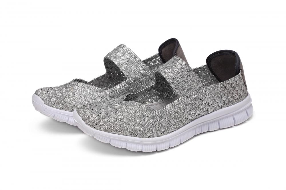 Silver V-Shaped Throat Shoes