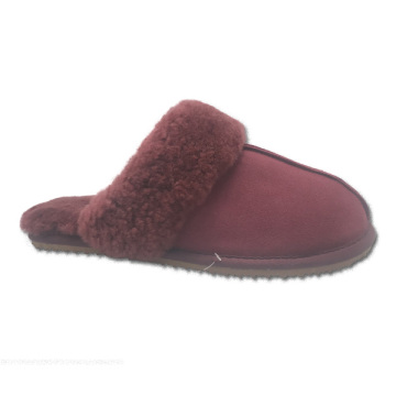 new design comfortable sheepskin women house indoor slippers