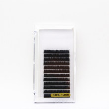 12 Lines 0.15mm Thickness C Curl Standard 10mm Faux Eyelash Extension Eyelash