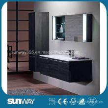 Heißer Verkaufs-Holz Veener Badezimmer-Schrank mit guter Qualität (SW-WV1206)