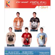 Sublimation benutzerdefinierte Männer T-Shirt / Tierdruck / Haustier Shirt