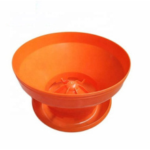 Professional Poultry Farm Turbo Chick Feeder Pan Automatic Broiler Day Old Baby Chick Feeder