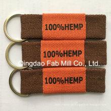Tecido de cânhamo feito chaveiro para a promoção (HKR-16)