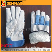 Winter Warm Leather Safety Working Gloves (SX-SJT-0924)