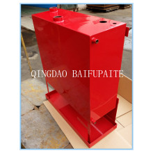Red Powder Coated Diesel Fuel Tank