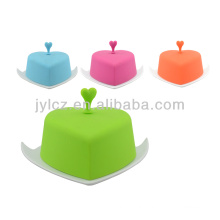 round ceramic butter dish