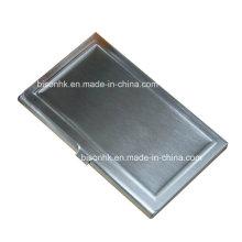 Promocional personalizado gravado alumínio titular do cartão de visita