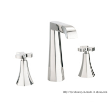 Elegant Dual Handle Deck Mounted Basin Faucet