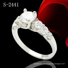 Moda jóias 925 anel de diamante de prata